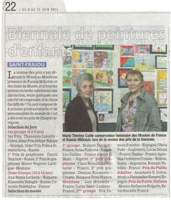 Biennale de peinture d'enfants, La gazette 6/6/2012