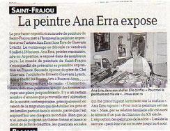 Ana Erra, La Dépêche 6/7/2012