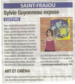 Sophie Guyonneau, La Dépêche 3/10 2012