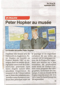 Peter Hopker, Le Petit Journal 190/09/2012