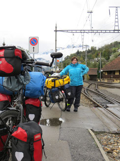 Am Bahnhof Ilanz