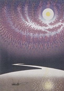 光る道 (1985)  木版画10版19度摺 / 55x40cm