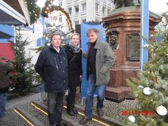 Hans-Werner Rüth (Hansemarkt), Antke Kreft (Boxschool) u. Wolfgang Sabrowsky (epa-events)