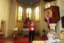 Herr von Chamier in der Kirche Altkirchen