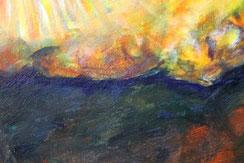 """Ausschnitt aus """"Die Entdeckung der Zeit"""", Acryl auf Baumwolle, 80 cm x 60 cm, 2019"""