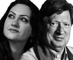 links: Rosa Hassan (Foto: Miguel Hernandez), rechts: Johannes von Dohnanyi (Foto: privat)
