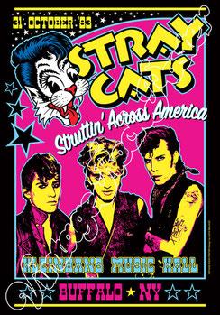 stray cats, stray cats poster, stray cats concert, rockabilly