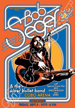 bob seger, bob seger poster, bob seger concert, reo speedwagon, spirit concert, bob seger detroit