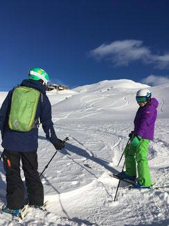 Skiunterricht, Teenager, Ski lessons, Freeriding, Offpiste