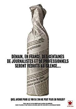 """Droit à l'""""information"""" sur le vin (affiche des producteurs)"""