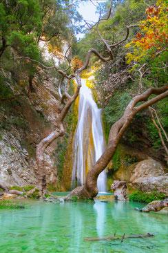 Neda Fluss und Wasserfall - Peloponnes - Nähe Kyparissia