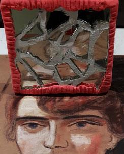 Gesicht im Facettenspiegel. Foto: Museum Lothar Fischer