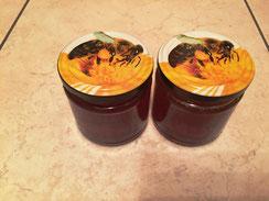 zwei Honiggläser 250ml aus der Ernte 2016