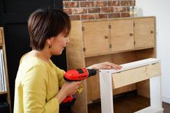 DIYを習いたい女子のためのDIY教室DIYプランナー®養成講座です。
