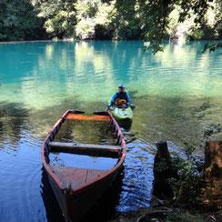 Am Einstieg zum oberen Rio Fuy, Chile-Trip 2012/13, Foto: Stefan Motz