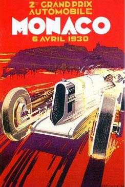 Affiche Robert Falcucci, Grand Prix de Monaco