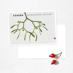 Postkarte frohes fest veganer hirsch