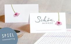 25 Tischkarten Kirschbluete, partyspiel