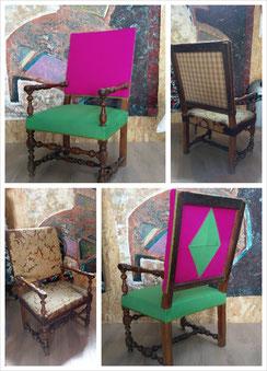 Rénovation fauteuil de style Louis XIII