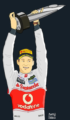 Jenson Button by Muneta & Cerracín