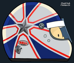 Helmet of Anthony Davidson by Muneta & Cerracín