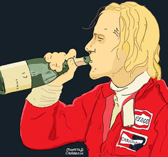 Teddy Mayer & James Hunt by Muneta & Cerracín
