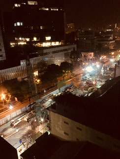 Ho Chi Minh City in der Nacht