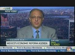 Jorge Mariscal ist auch im amerikanischen Finanzfernsehen ein häufiger Gast.