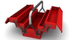 Der Werkzeugkasten leer