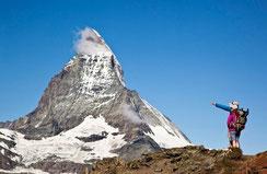 Touristen am Matterhorn
