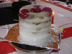 Idee für ein Geldgeschenk zur Hochzeit: Eistorte