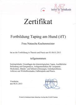 Kinesio Taping Zertifikat vom IFT