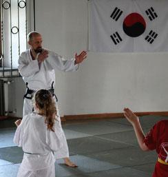Grundtechniken des Taekwondo.