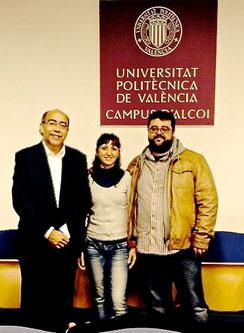 Pepe Crespo, Mari Mena y Bati Bordes en Alcoi