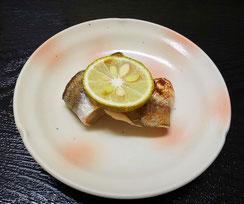カマスと持ち魚の青柚子焼き