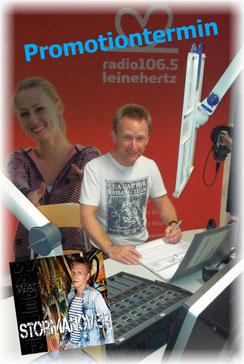 (Foto: Gerald Kaiser im Studio von radio leinehertz 106.5)