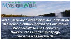 Die MaschseeWelle ist das neue Radio aus Hannover - klickt doch mal auf die Homepage unter www.maschseewelle.de