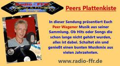 """Peer Wagener am 16.05.2020 von 20 - 22 Uhr auf Sendung mit """"Peers Plattenkiste"""" bei www.radio-ffr.de"""