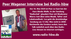 Peer Wagener am 16.05.2020 im Interview bei Radio-hbw (Harz-Börde-Welle)