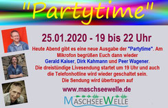 """Sendung """"Partytime"""" auf der MaschseeWelle aus Hannover - www.maschseewelle.de"""