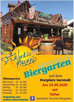 TaPee' am 25.09.2020 im Sommer-Biergarten der Festhalle Marris in Sarstedt auf dem Festplatz
