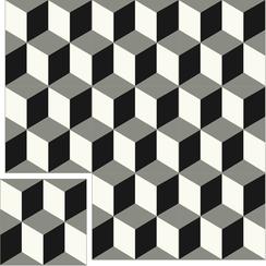 Carreaux de ciment Floorilège - Motif cube CU9