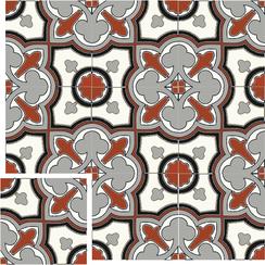 Carreaux de ciment Floorilège - Motif trèfle TR5