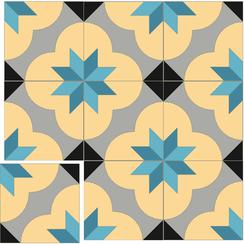 Carreaux de ciment Floorilège - Motif alpha AL2