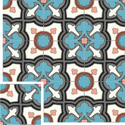 Carreaux de ciment Floorilège - Motif trèfle TR2