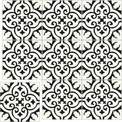 Carreaux de ciment Floorilège - Motif élégance EL3