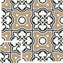 Carreaux de ciment Floorilège - Motif trèfle TR1