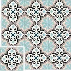 Carreaux de ciment Floorilège - Motif élégance EL1