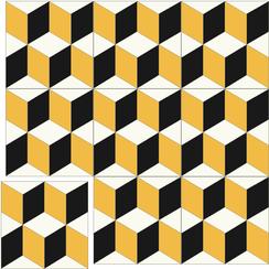 Carreaux de ciment Floorilège - Motif cube CU8