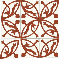Carreaux de ciment Floorilège - Motif mérovingia ME3